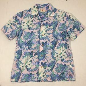 Men's Brooks Brothers Red Fleece Hawaiian Shirt L